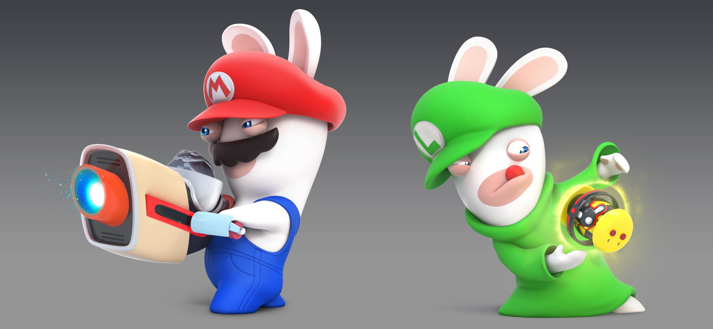 CG renders of Rabbid Mario & Rabbid Luigi