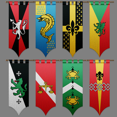 Tudor morris banners paint up 2