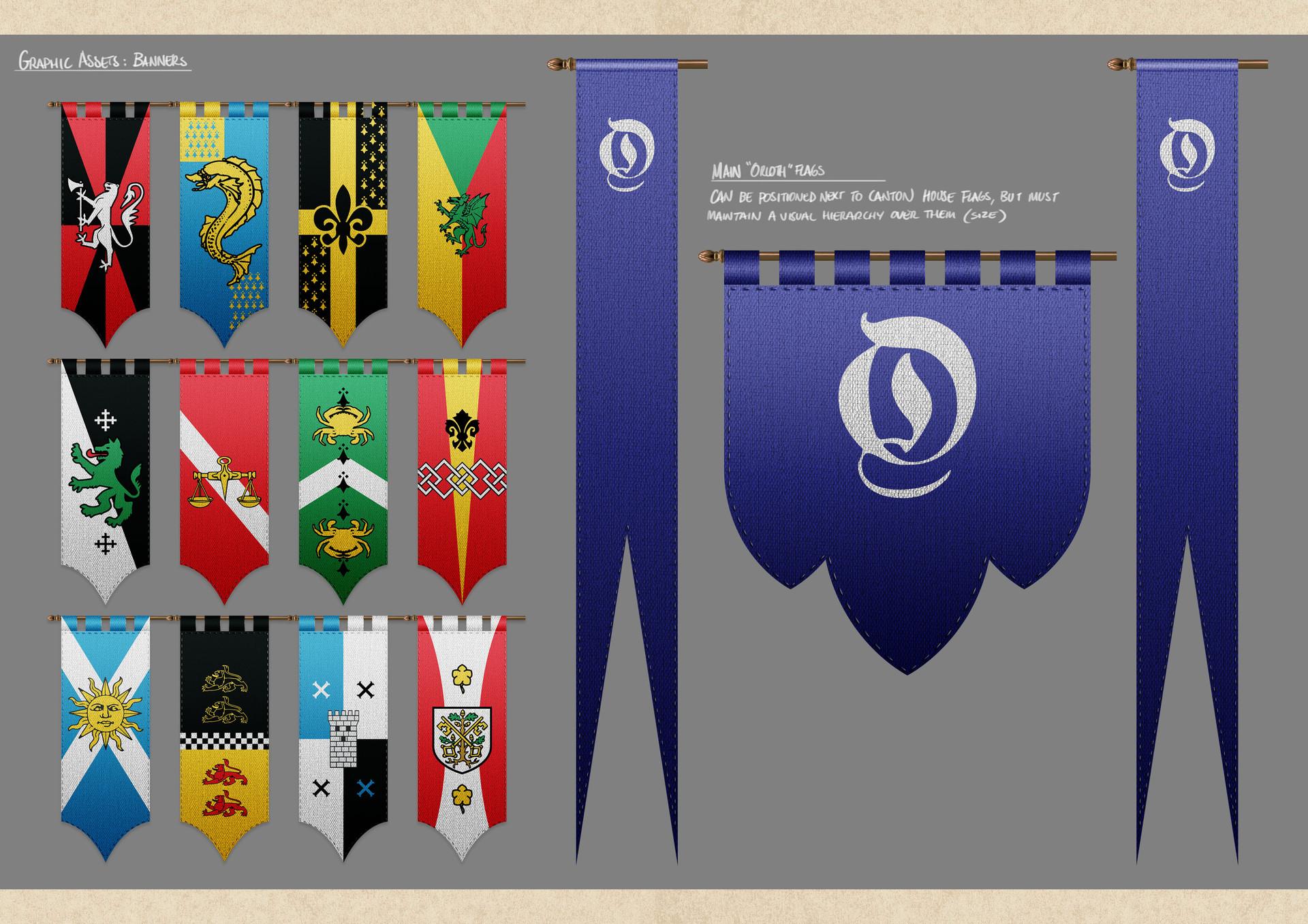 Tudor morris banners paint up 2