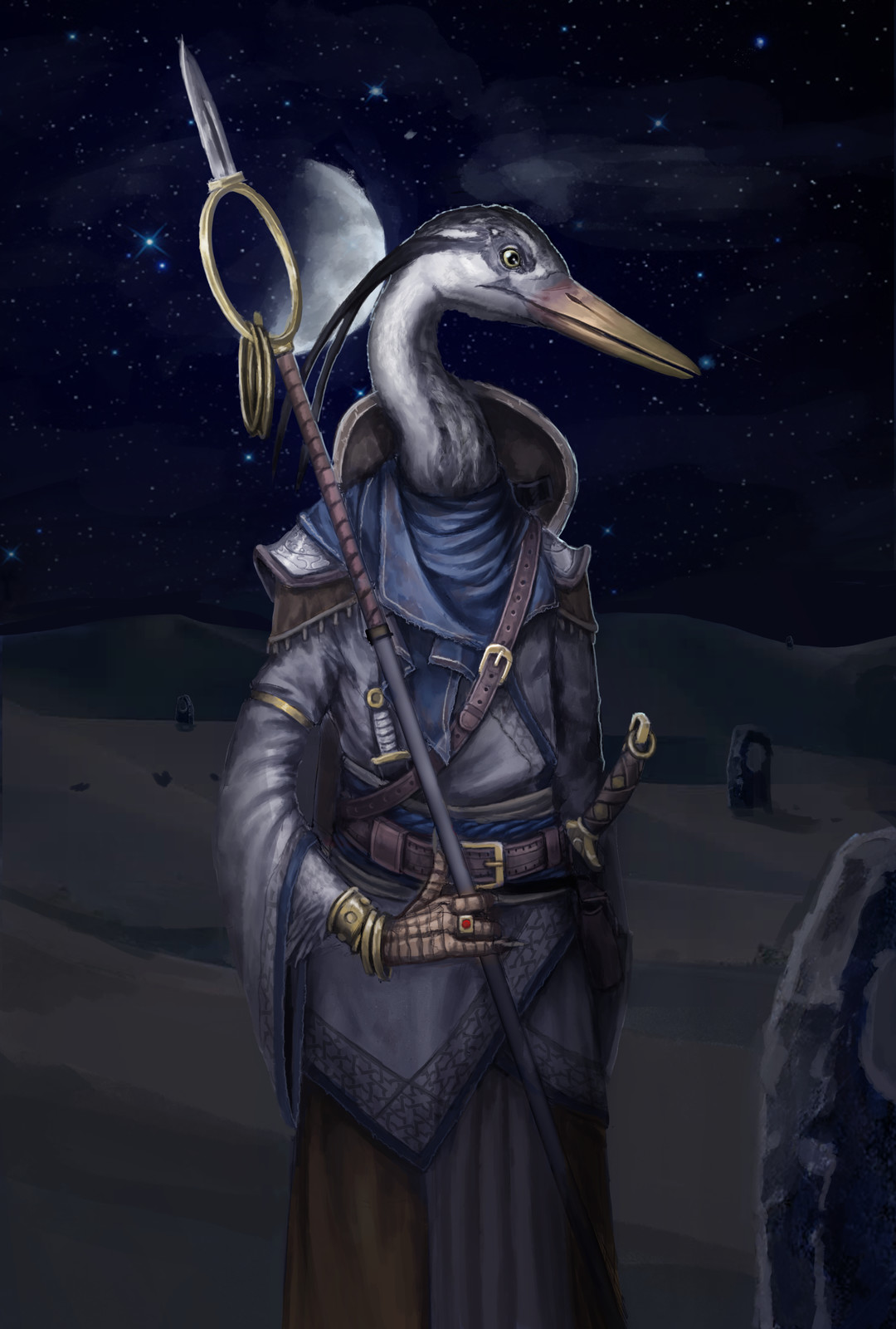 Anthromorphic Bird Priest