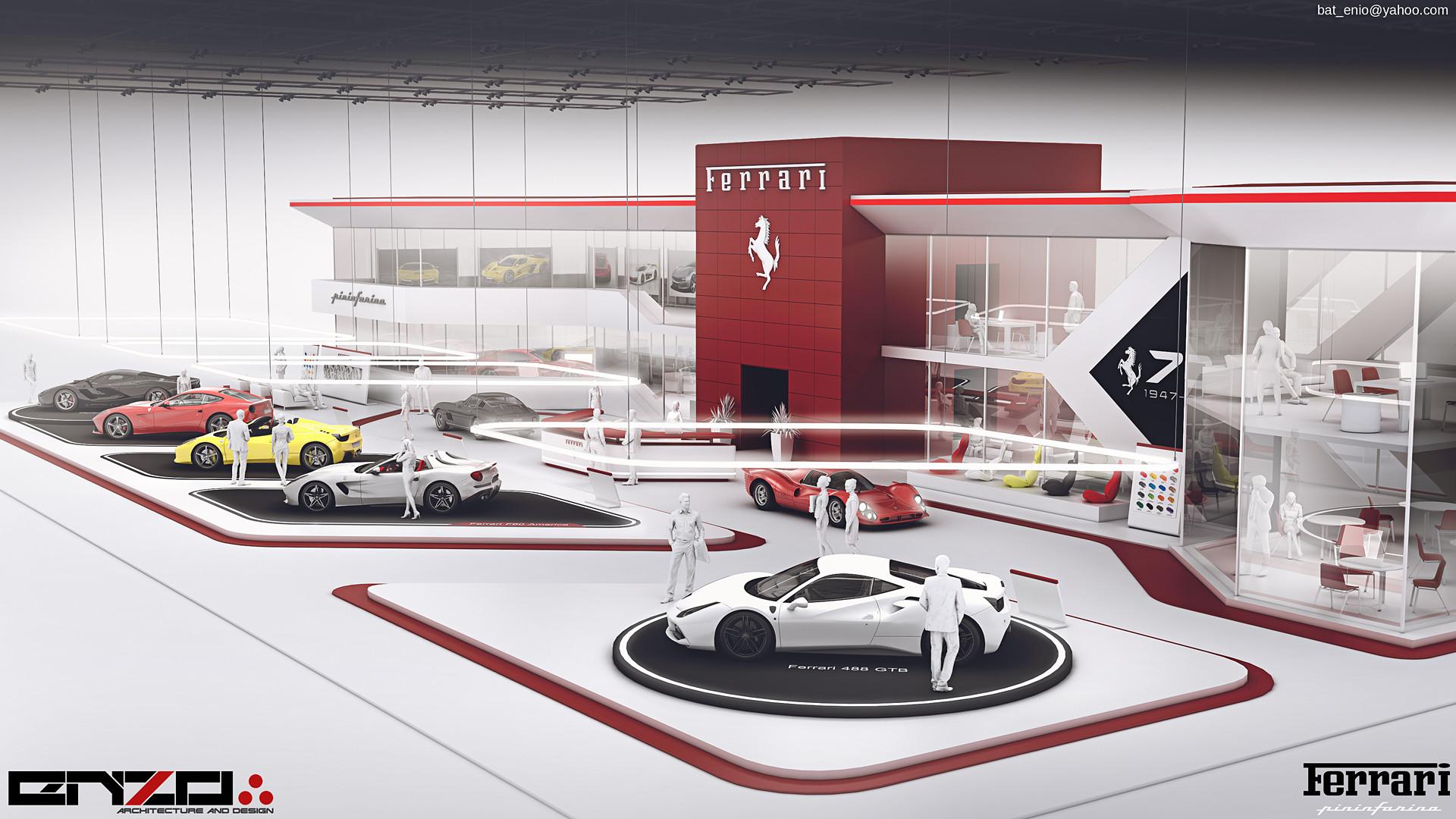 Car Expo Standsay : Artstation ferrari expo stand concept encho enchev