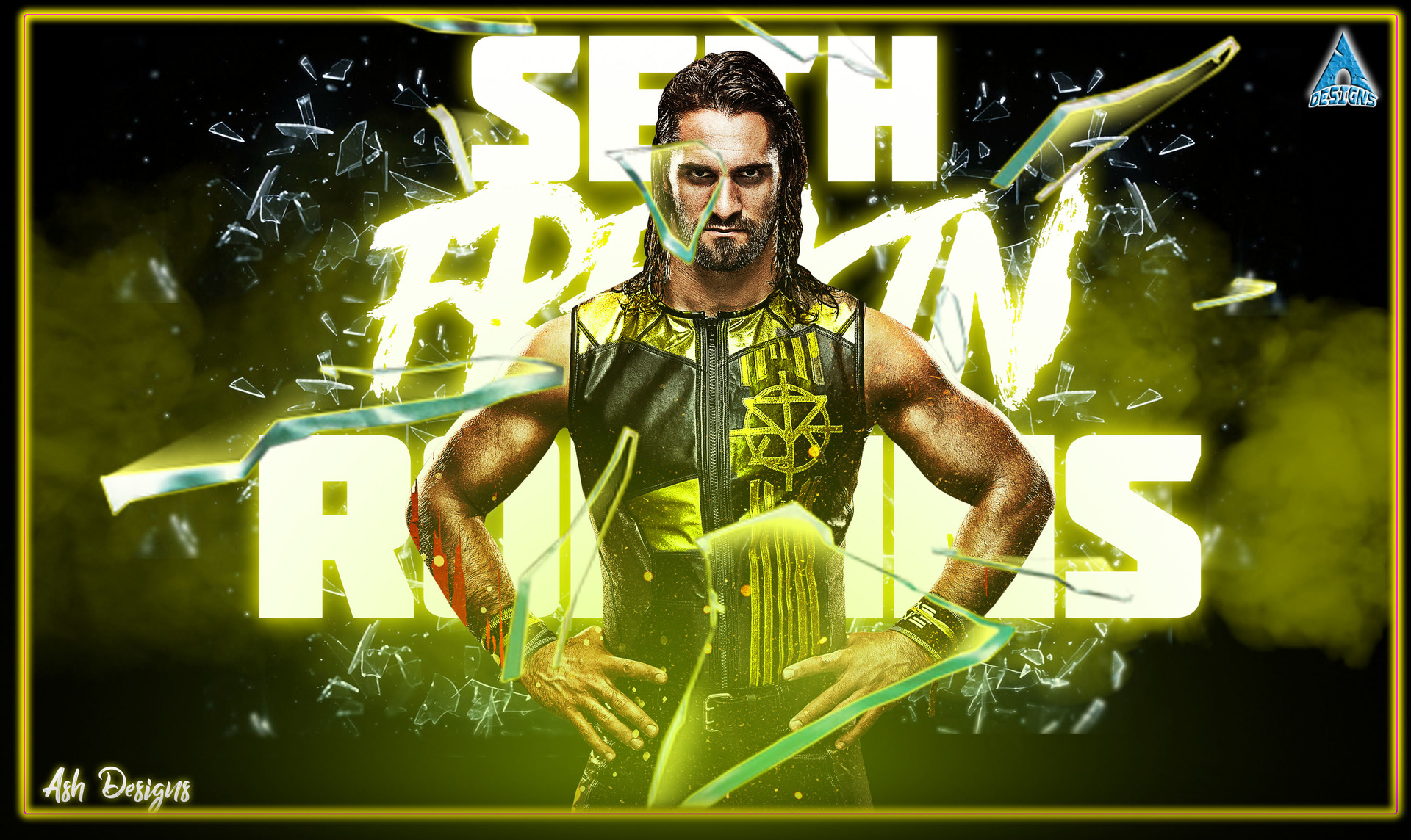 ArtStation - Seth Rollins Wallpaper