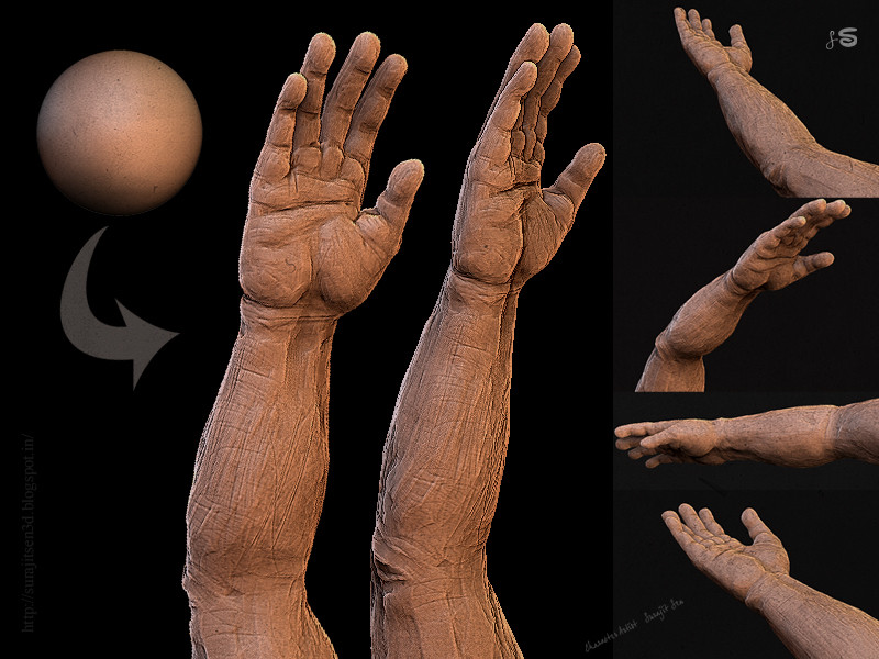 I am learning and want to learn more. .... My break time quick unfinished sculpt study. Wish to share  :)