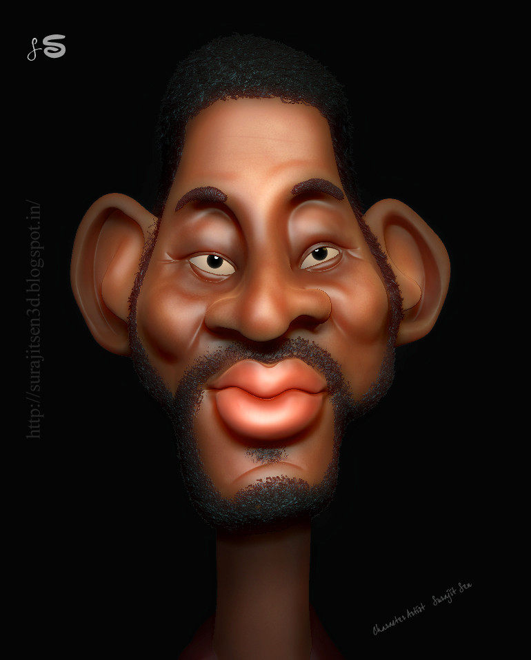 After a long time I have created this kind of 3D caricature. Wish to share...:) I am learning ....and want to learn more....