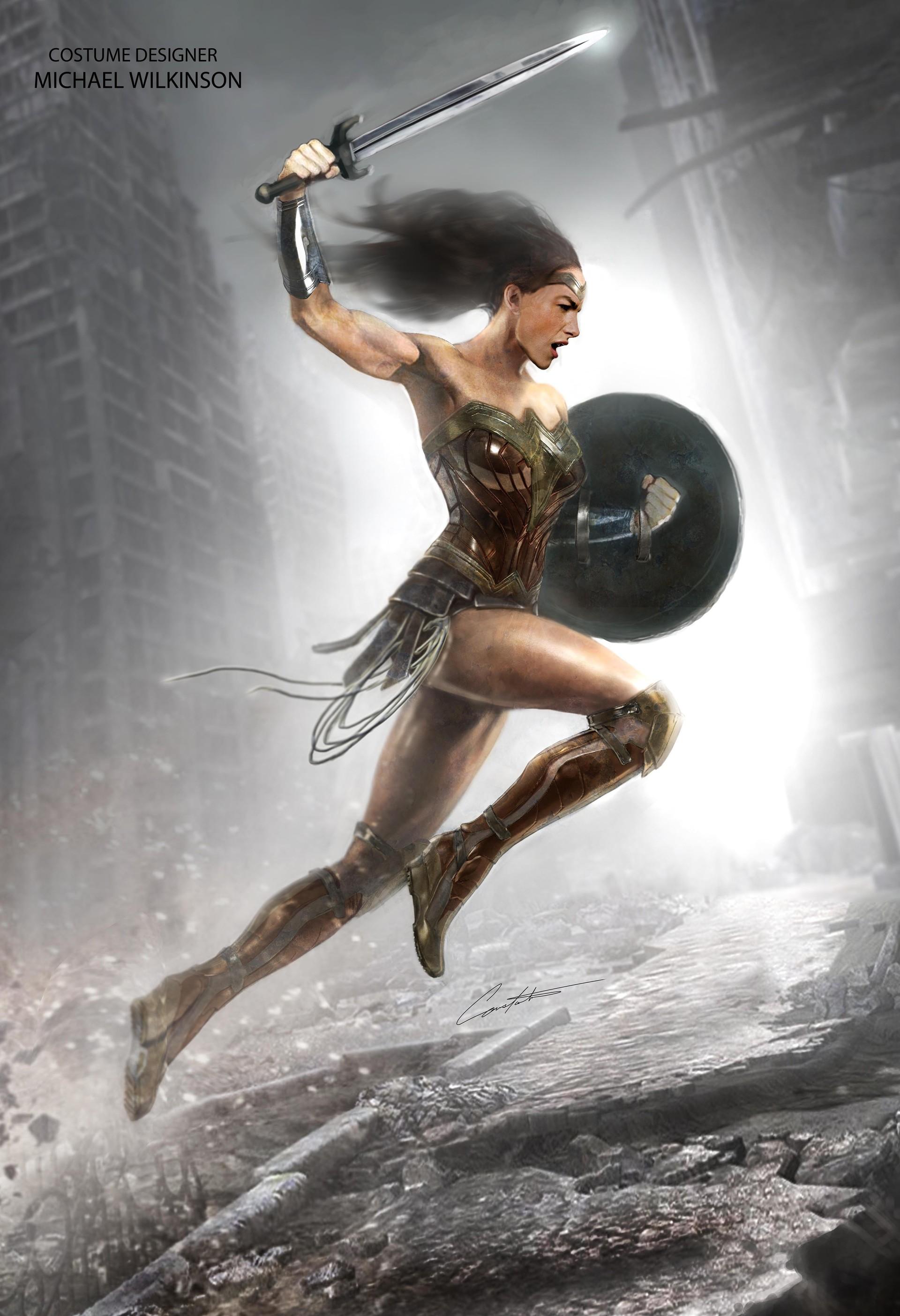 ArtStation - Wonder Woman BvS in action, Constantine Sekeris