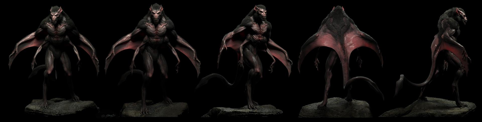 Jerx marantz bat creature conceptart workshop sprex hair