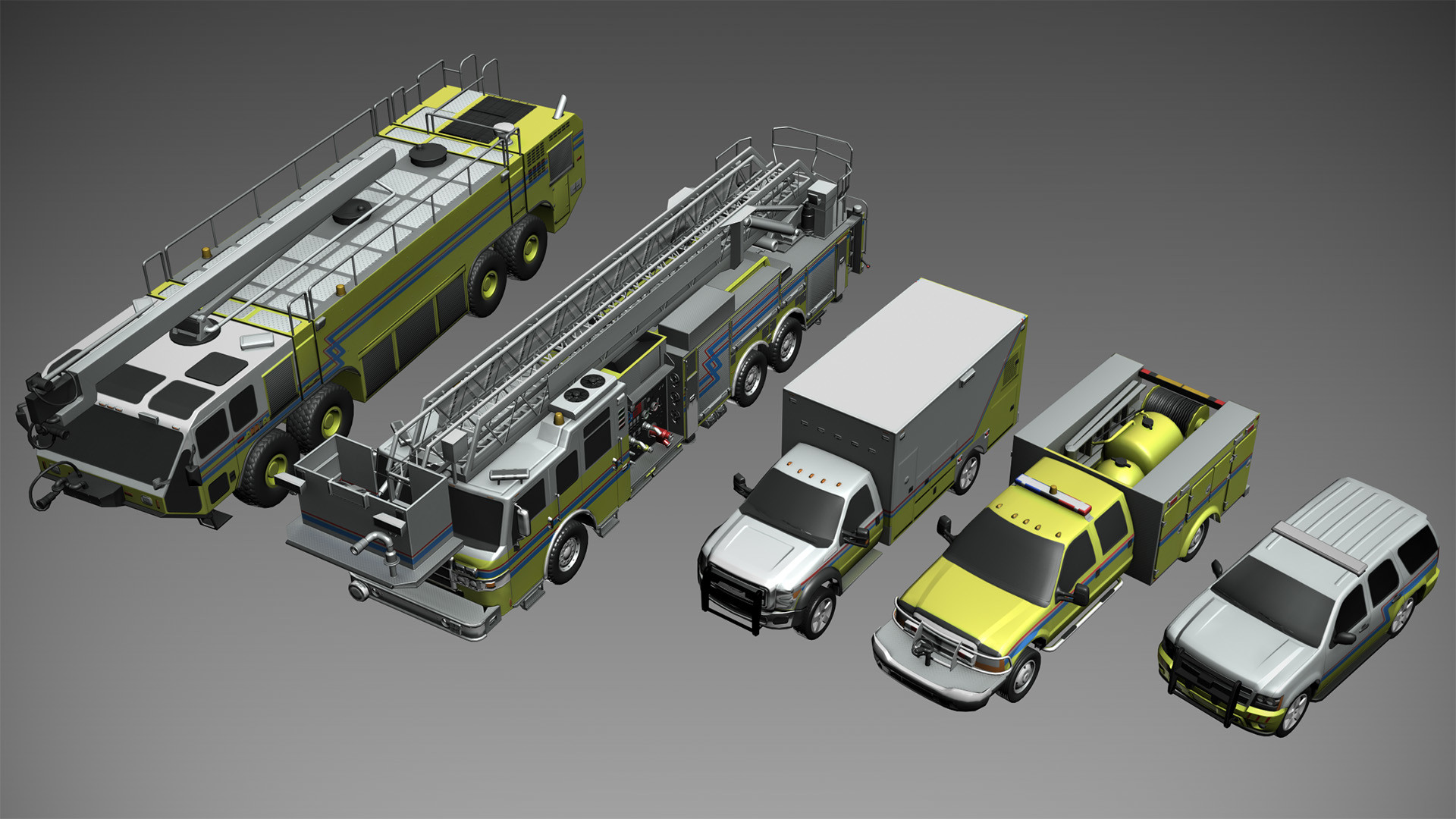 Several vehicles to use in strategy planing. These are low-poly with normal maps.