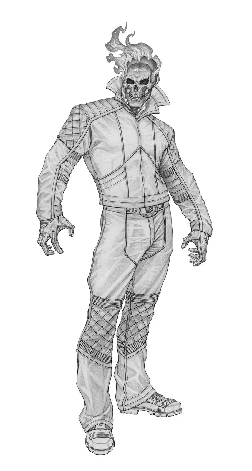 Pencil rendering - no bib