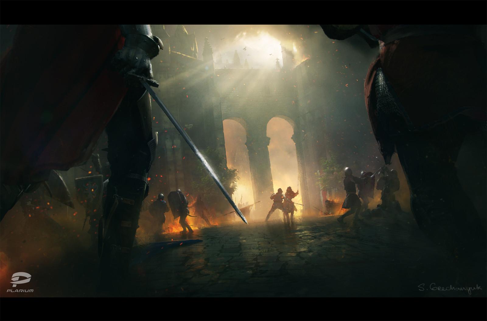 Throne: Kingdom at War key frame illustartion