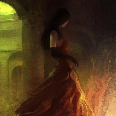 Alexander chelyshev red dress s