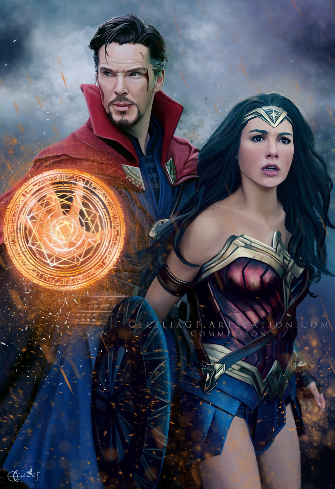 Doctor Strange and Wonder Woman