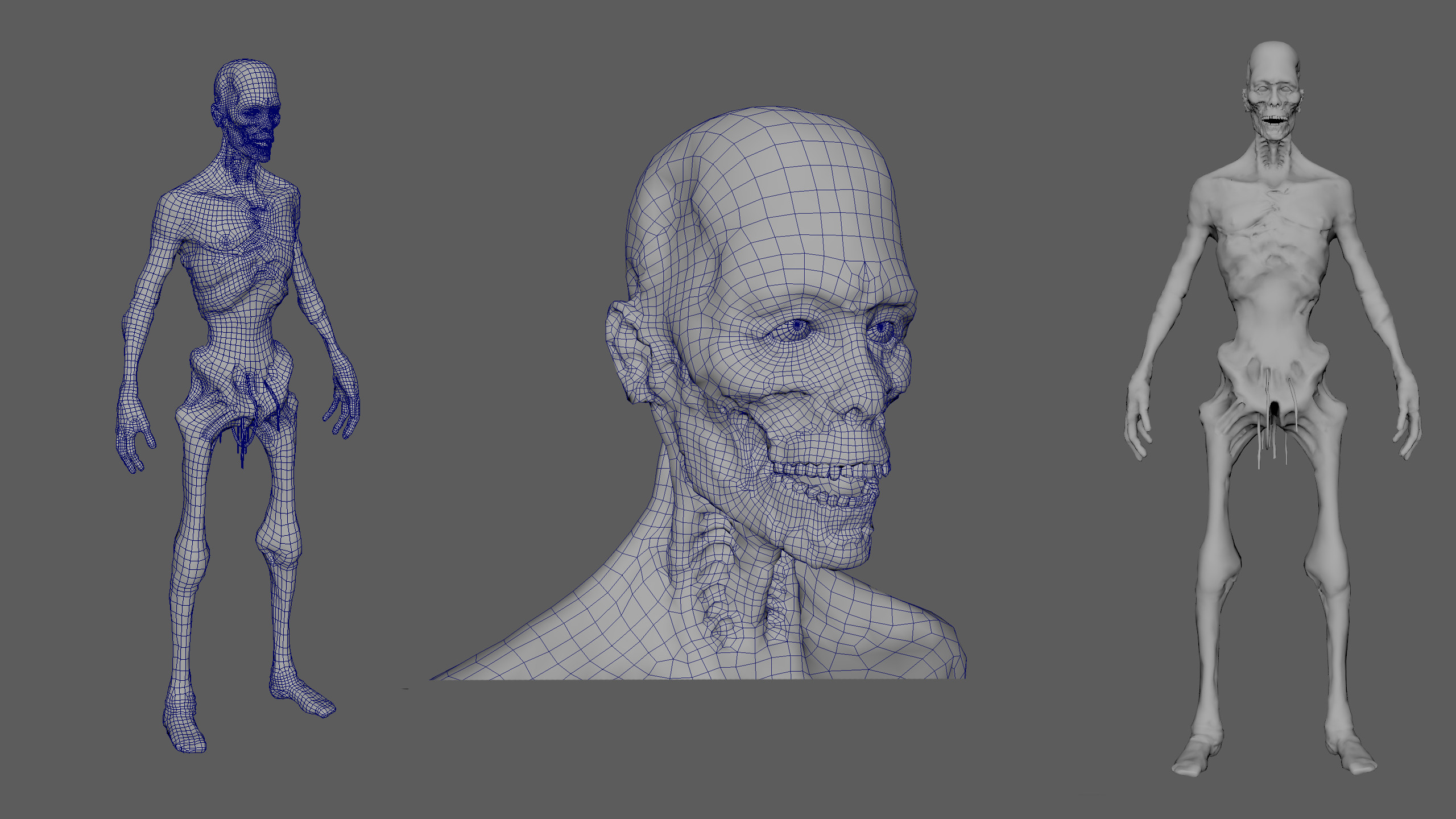 wireframe and low poly mesh, 40k triangles.