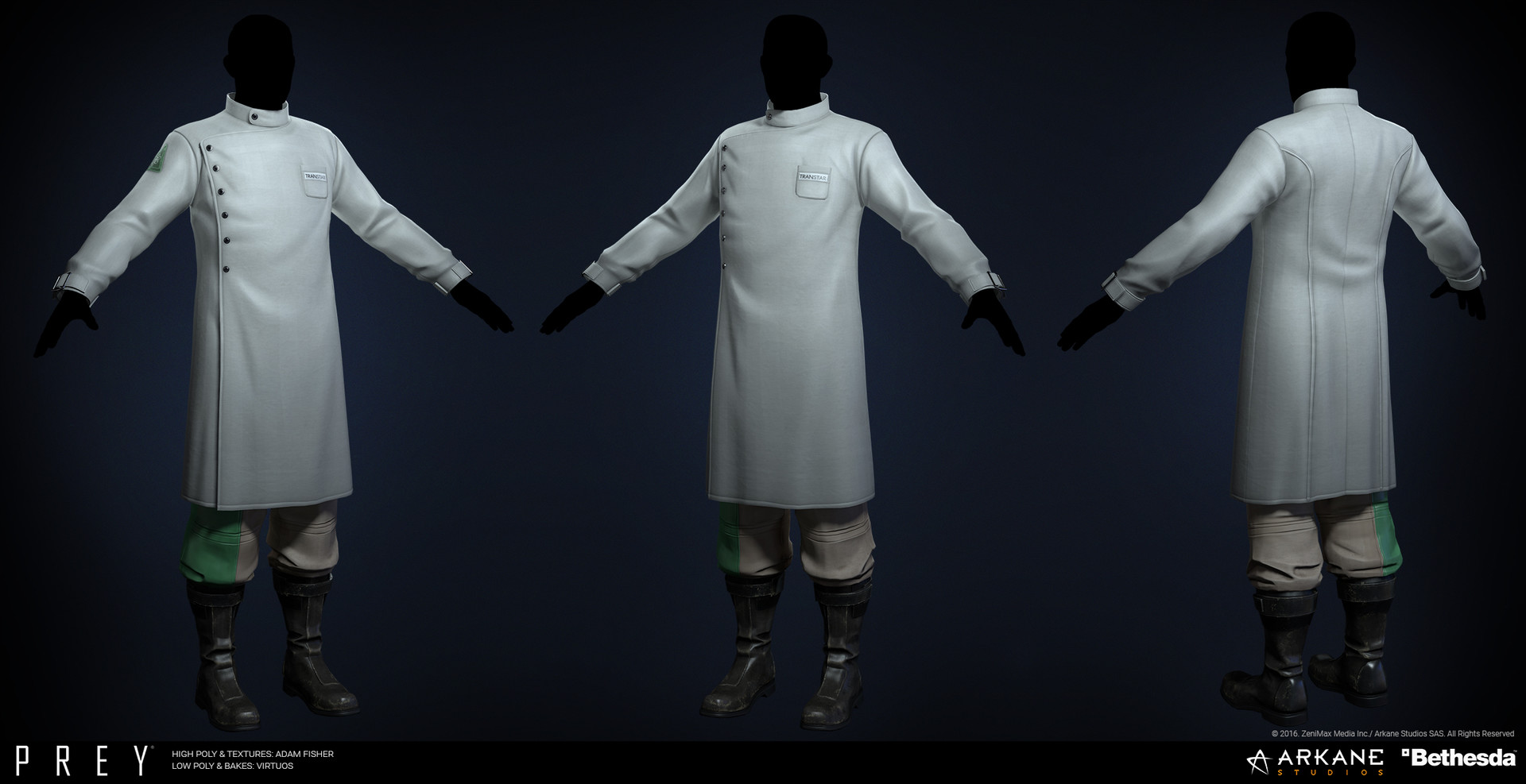 Adam fisher afisher prey labcoat male