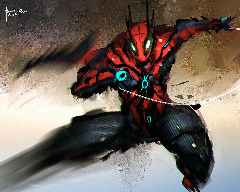 Benedick bana fanart spiderman lores