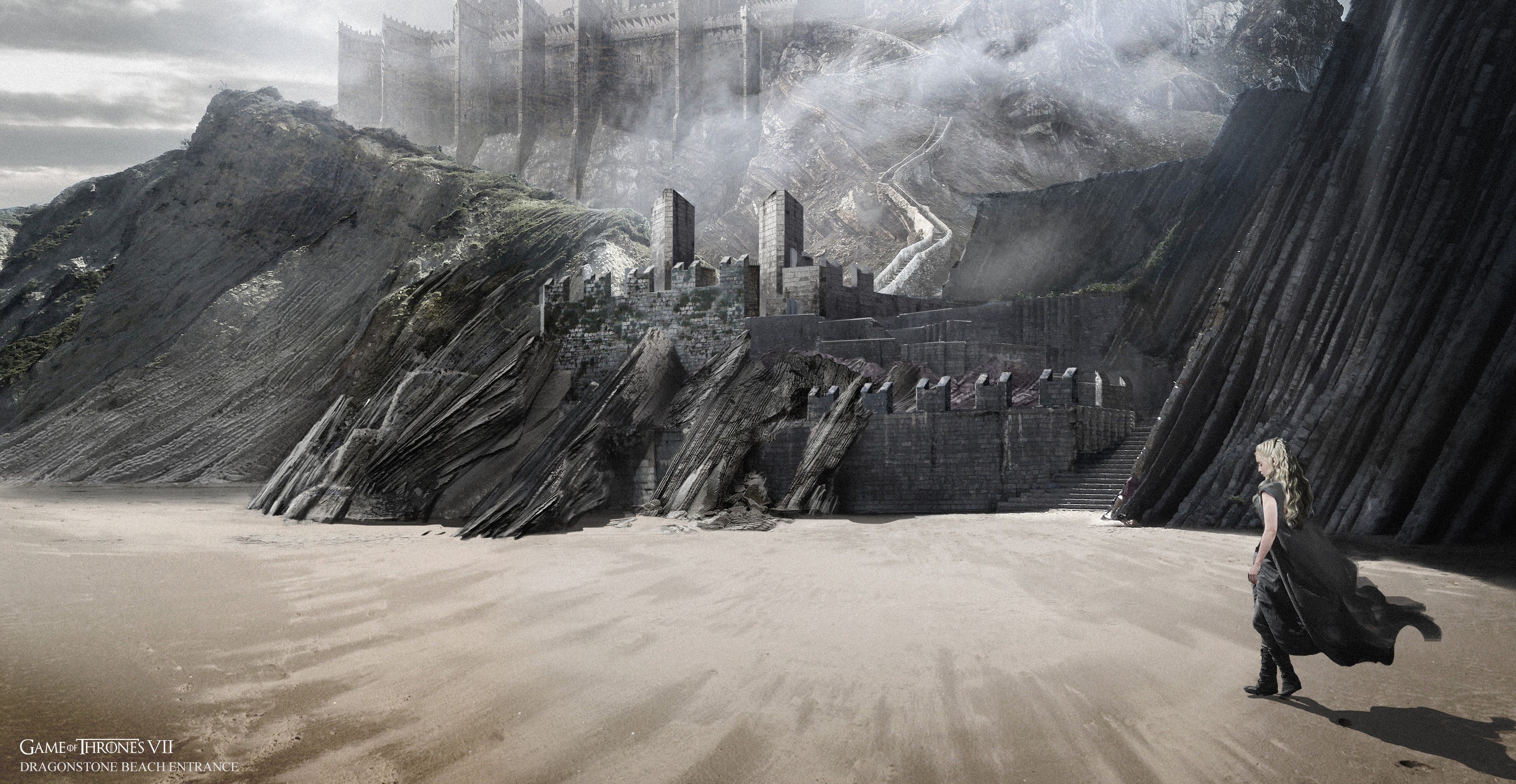 This was a concept to show how the gate would look with steps leading up, based on the Zumaia beach location.