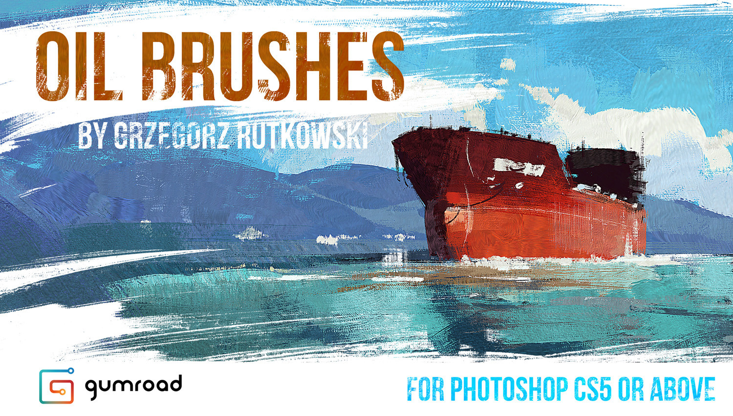 Greg rutkowski ship oil brushes 1500