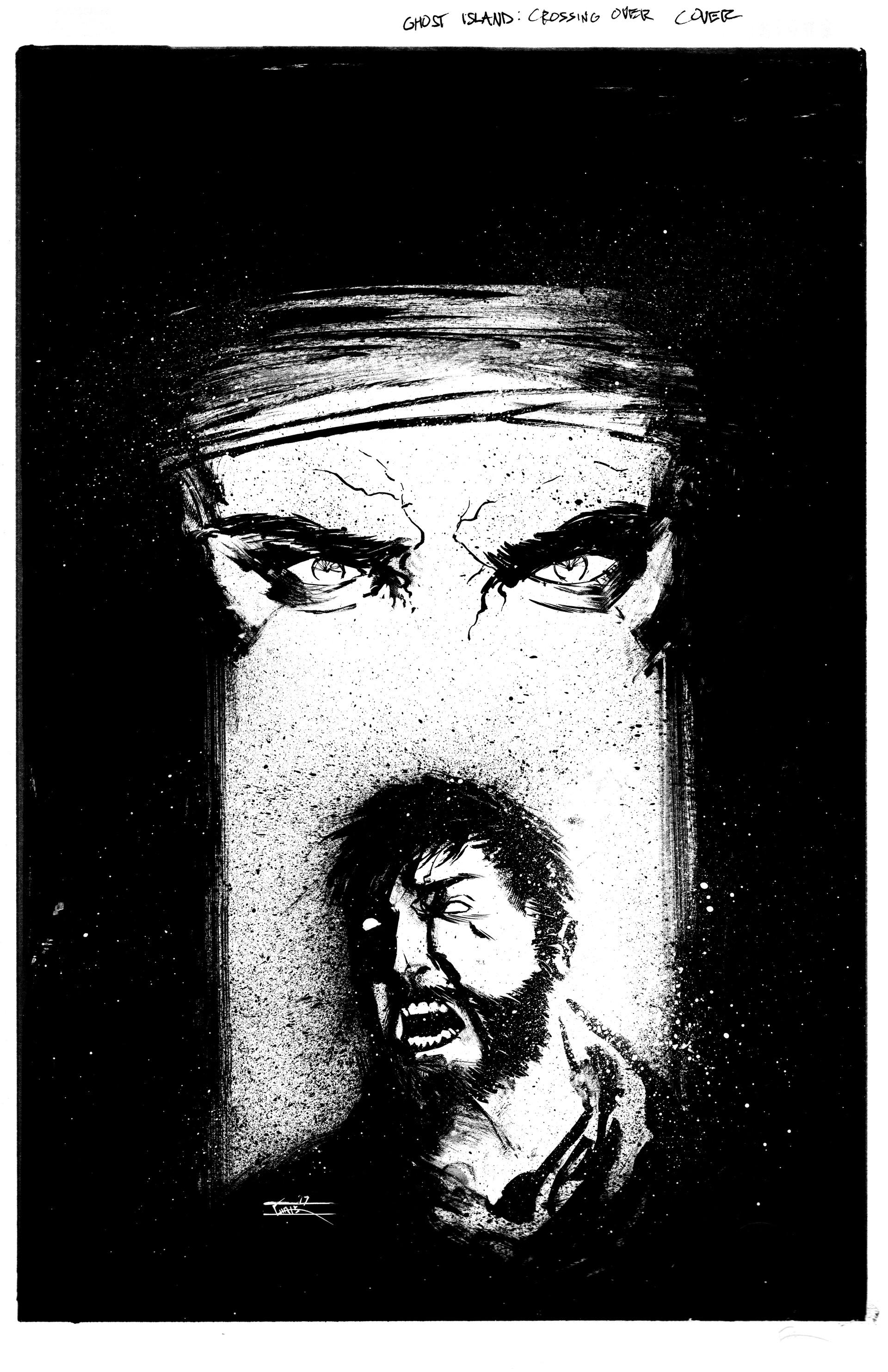 Chris shehan ghost island cover inks