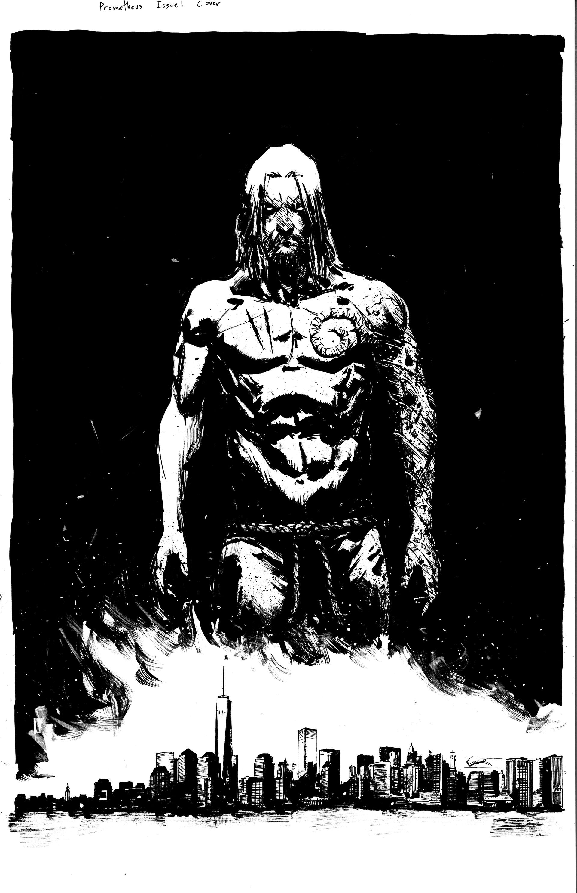 Chris shehan prometheus 1 cover inks