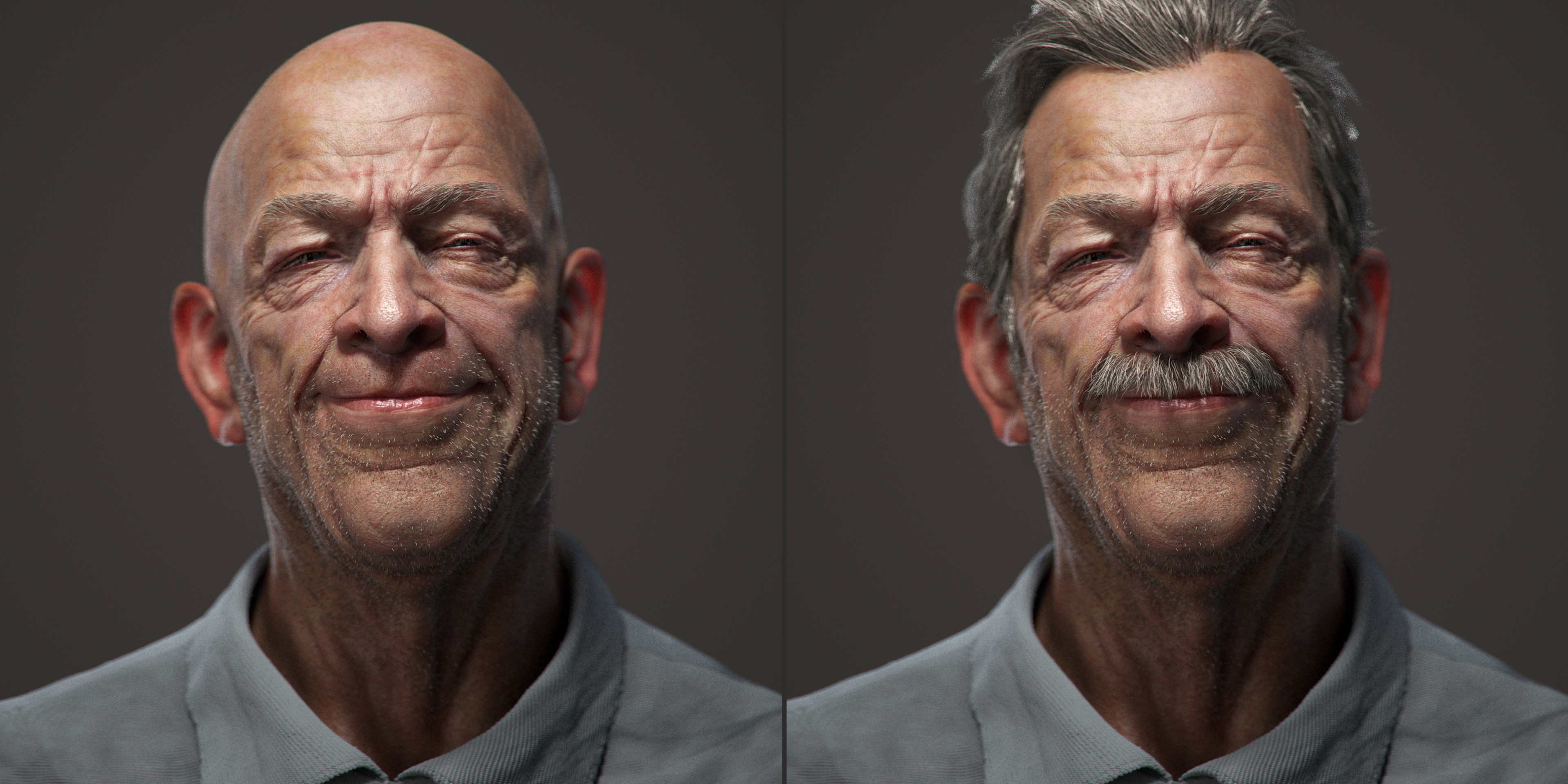 facial rig done and expression.