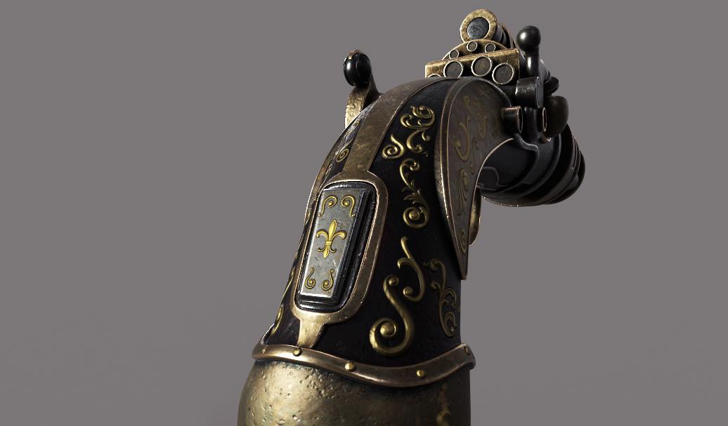 Steampunk Style Pistol