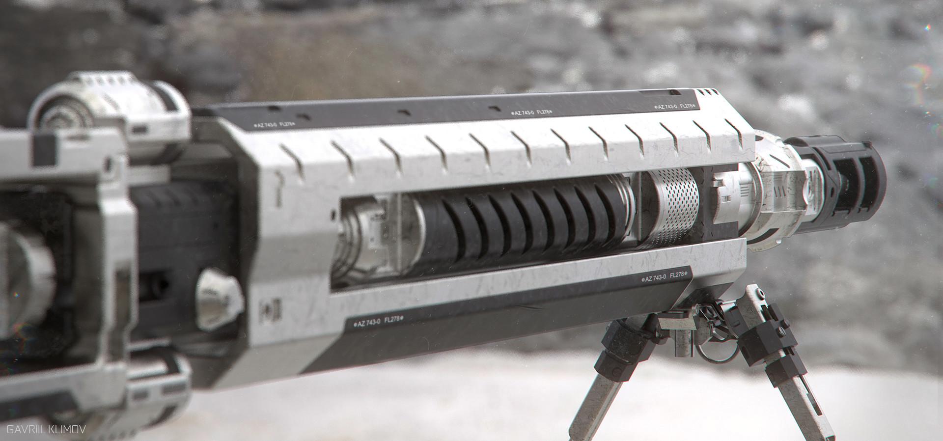 Marder rifle - Outdoor desert render