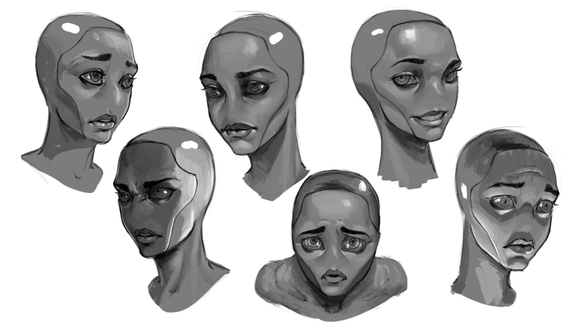 Tumo mere main character expression sheet 2