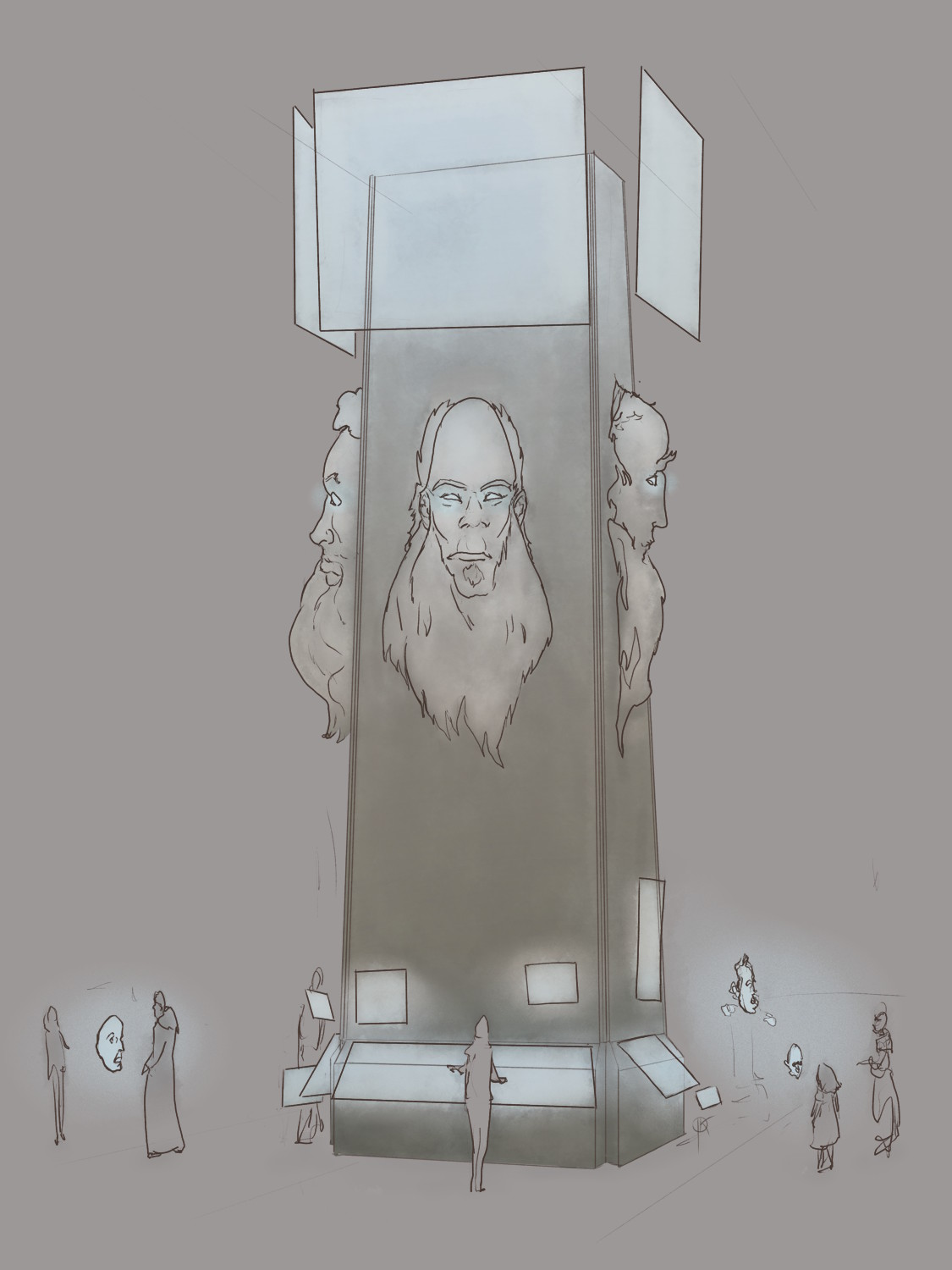 Informant - a gigantic, four faced pillar offering just any information possible... Or so it seems. No one really knows what are its other jobs. 99% of time it answers touristic information questions anyways...