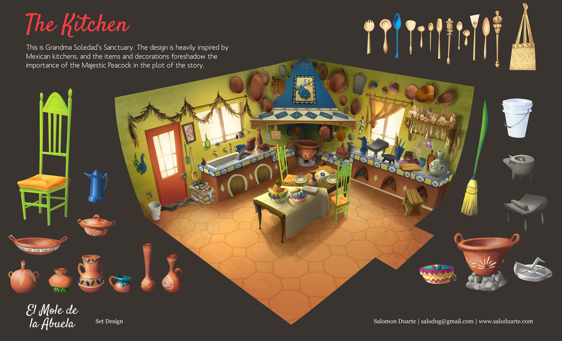 Salomon Duarte Mexican Kitchen Design For El Mole De La