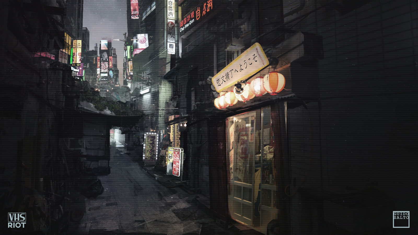 Quick Photobash of a street Level View