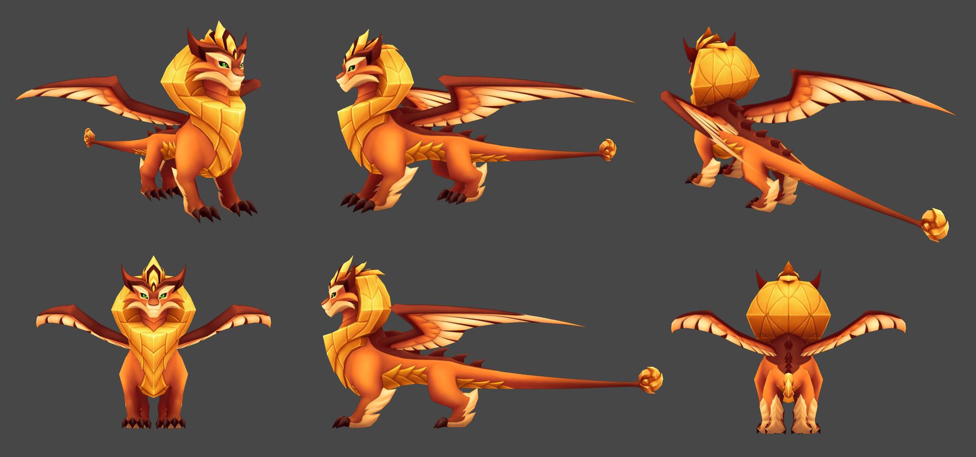 ArtStation - DragonVale World Leia Zodiac Dragon, Adam Roark