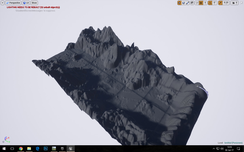 Terrain Initial Buildup