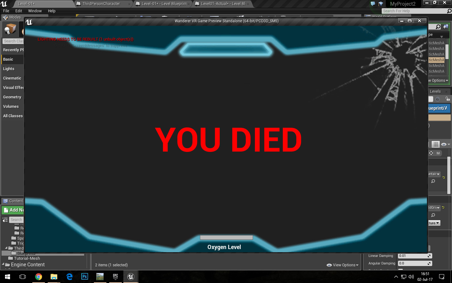 HUD - Death Screen