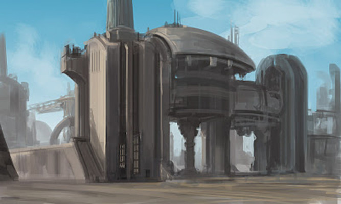After work sketch- I love sci-fi!