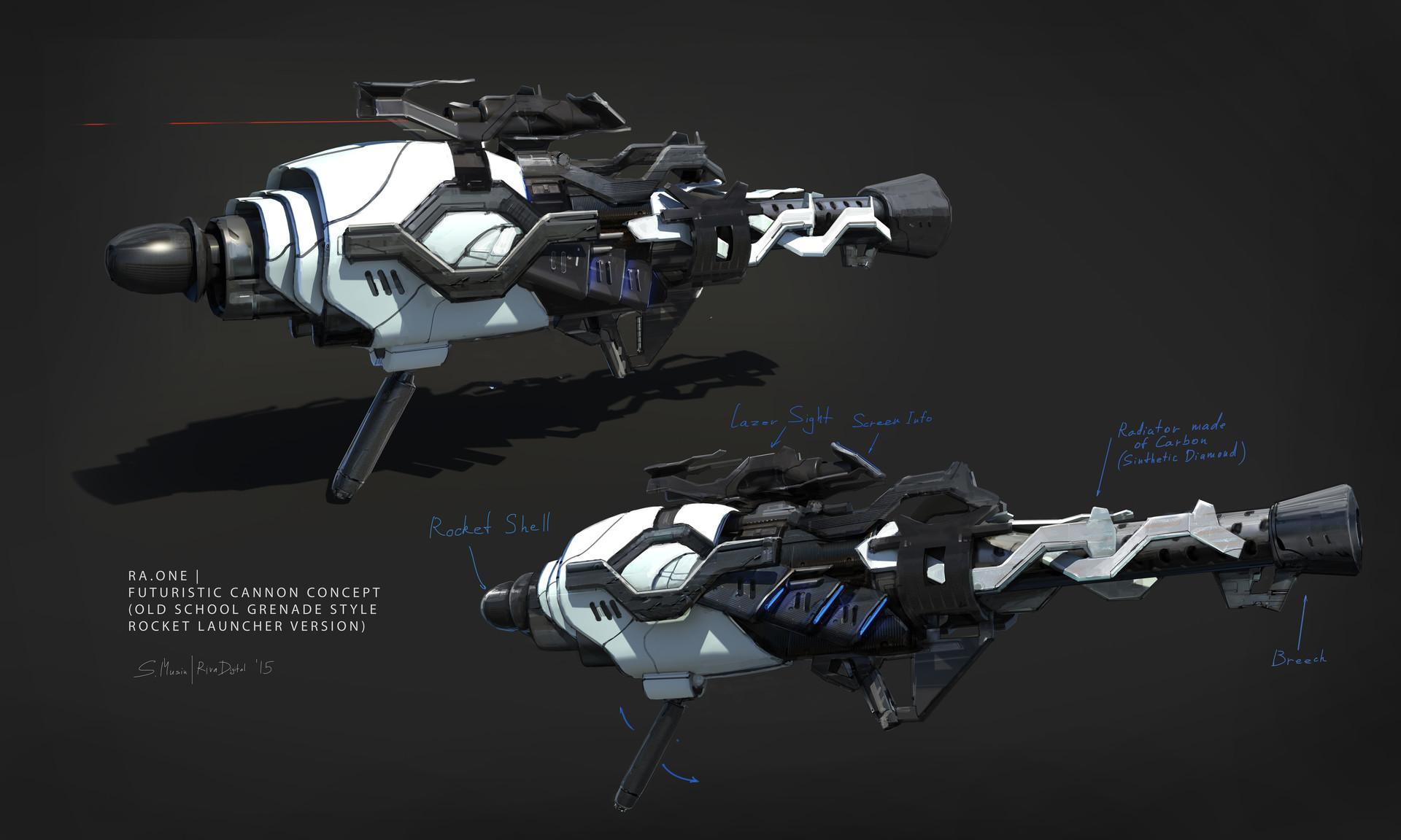 Sergey musin sergey musin futuristic cannon concept 09 rocketgrenade