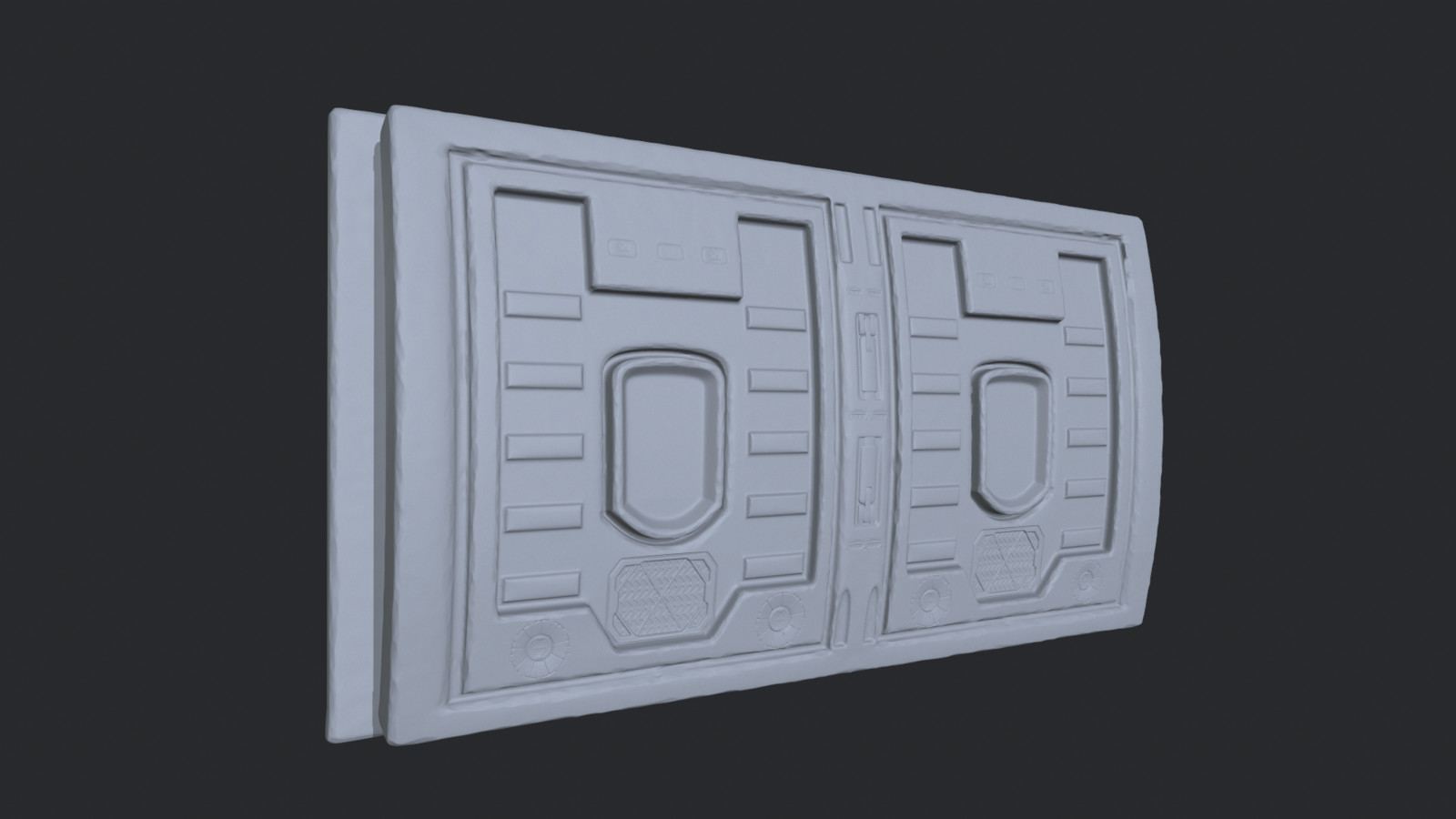 Utility Box High Poly Sculpt