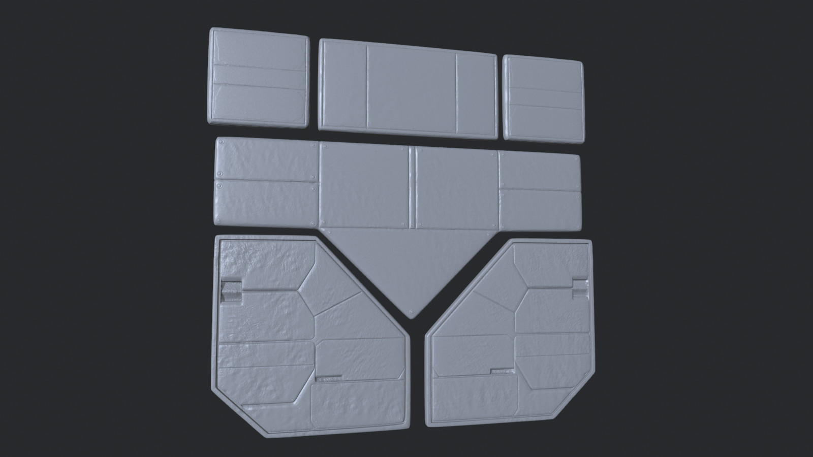 Panel High Poly Sculpts