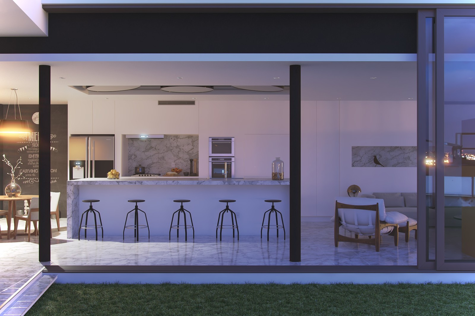 Kitchen (Casa Enseada, by Arquitetura Nacional)