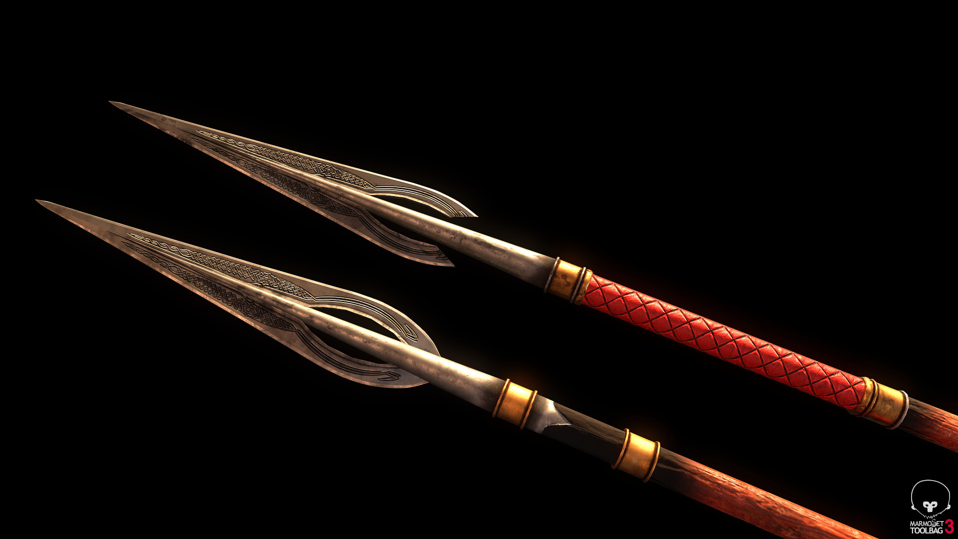 Bela csampai s4h rohan spear ornate 01 render mt 03