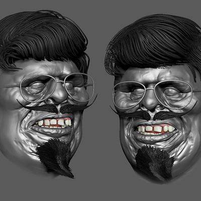 ugly teacher 3D digital Sculpt WIP