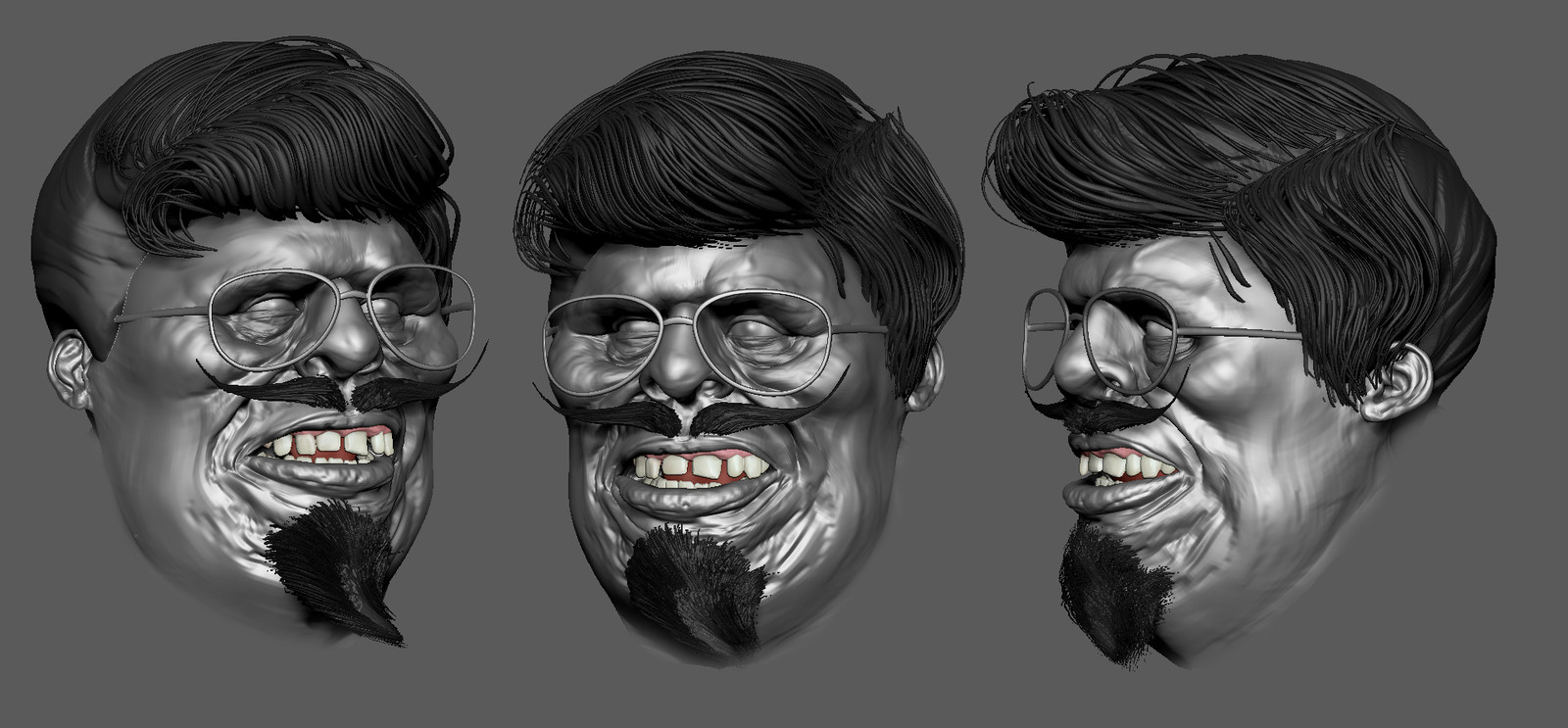 ugly teacher 3D digital Sculpt WIP