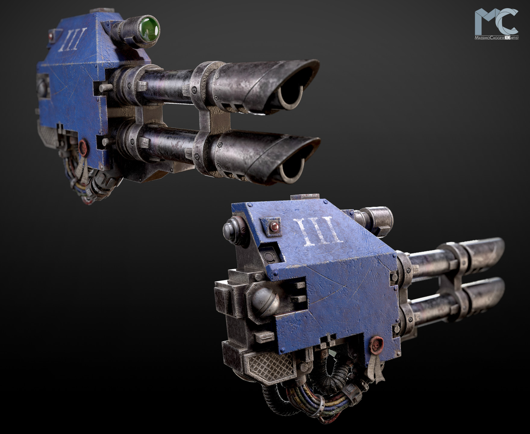 Front / back view (Marmoset Toolbag 3).