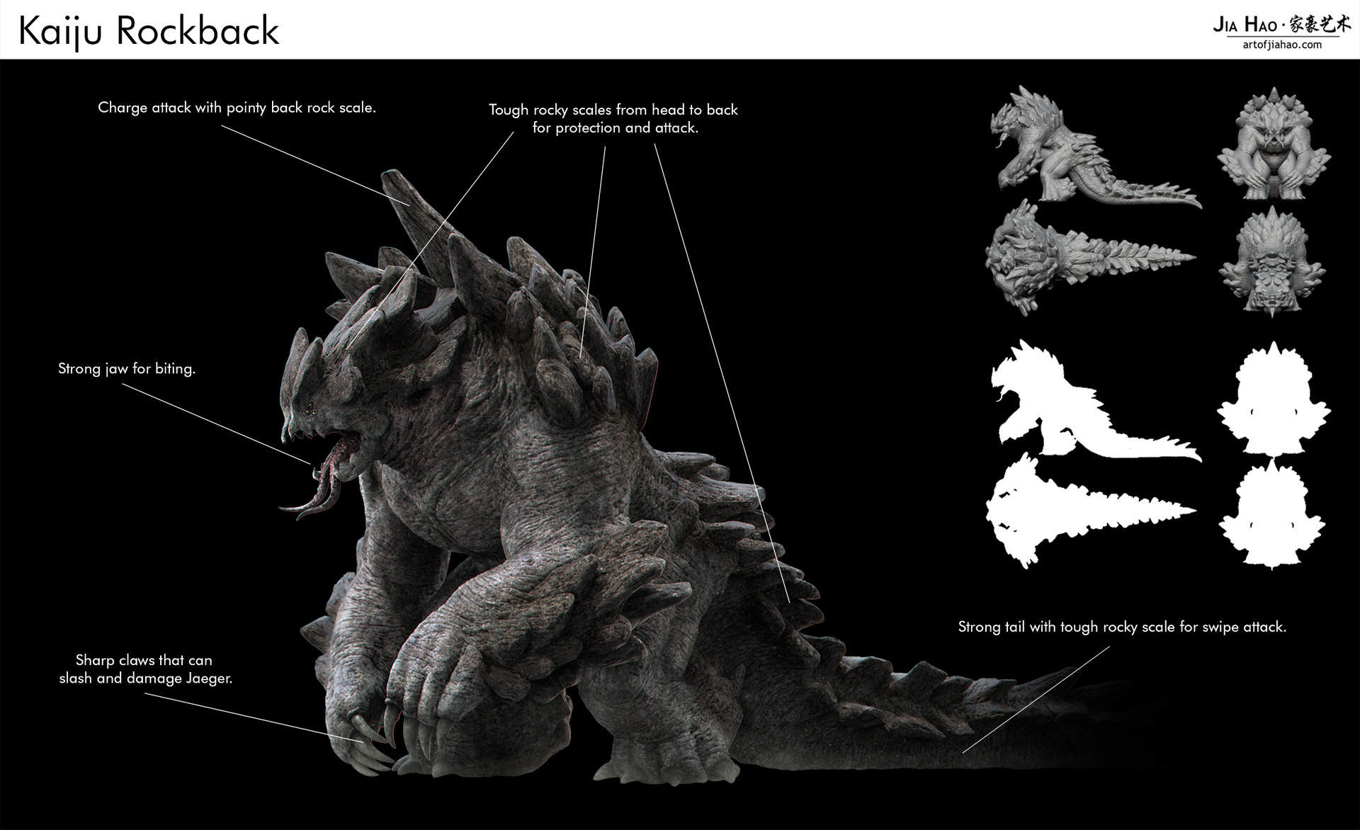 Jia hao 2017 kaiju rockback creaturedesign