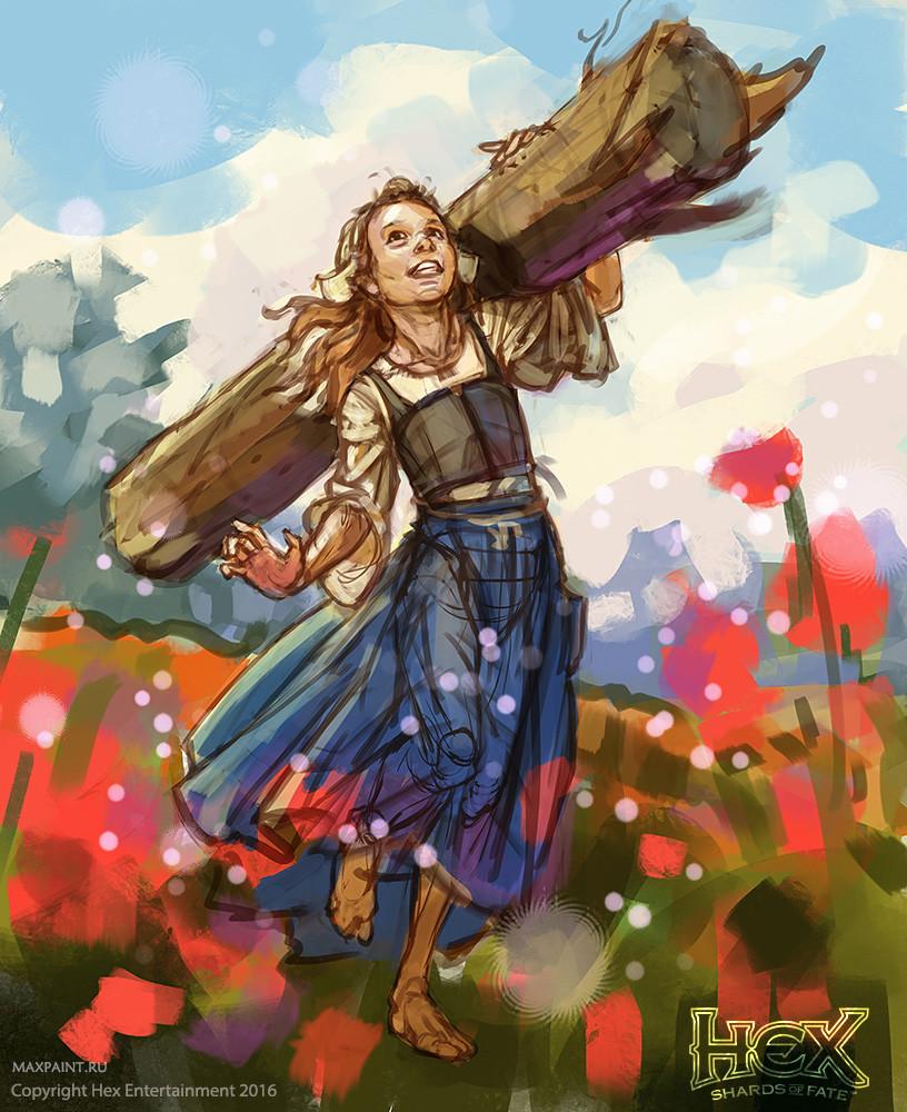 Ekaterina burmak forevers bloom sketch