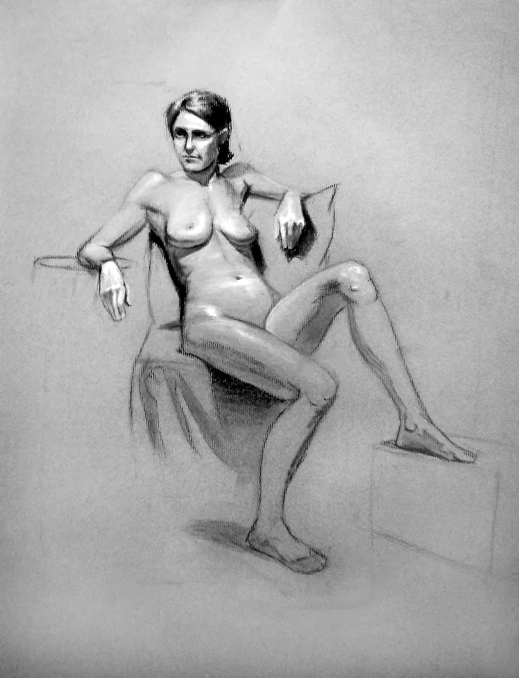 Artstation Life Drawing Female Model 1 S Parker