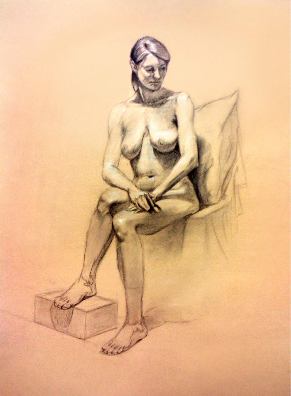 Artstation Life Drawing Female Model 2 S Parker