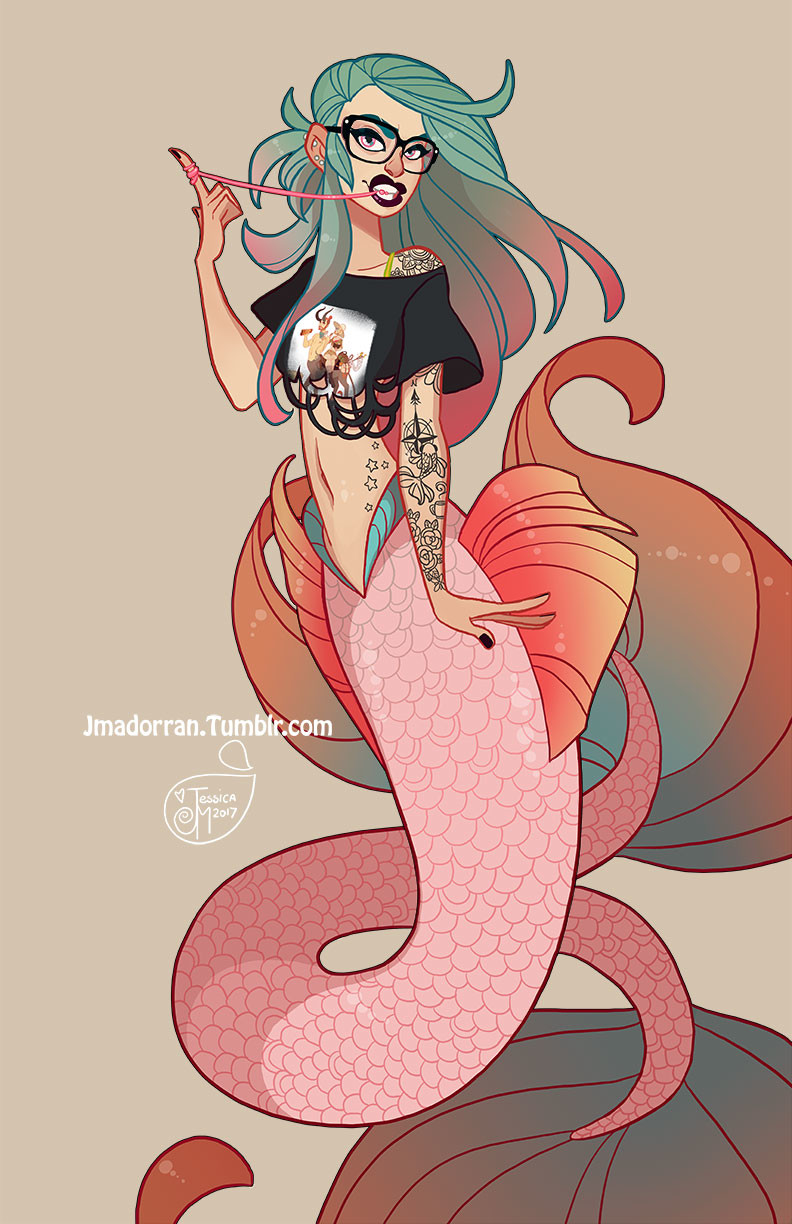 Jessica madorran character design seattle mermaid 2017 artstation