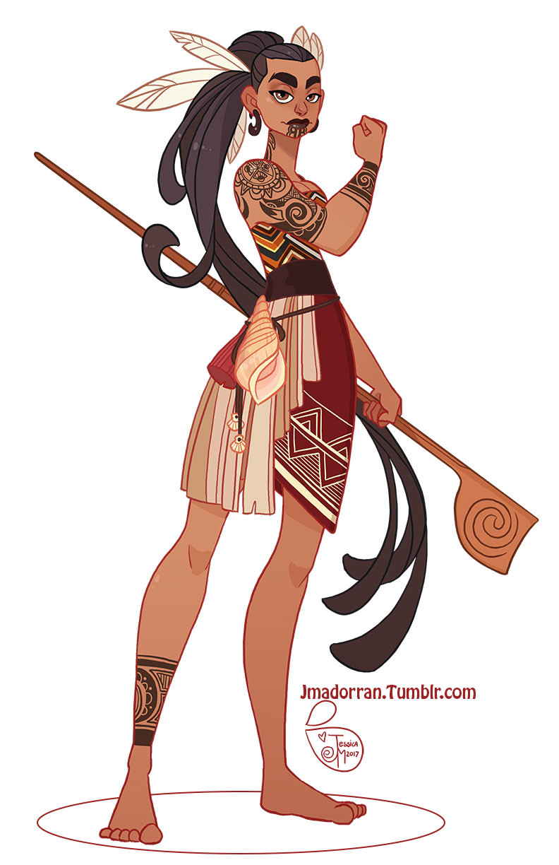 Character Design - Maori Warrior