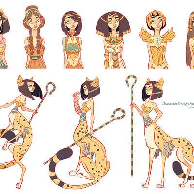 Jessica madorran portfolio character design cleopatra character study artstation