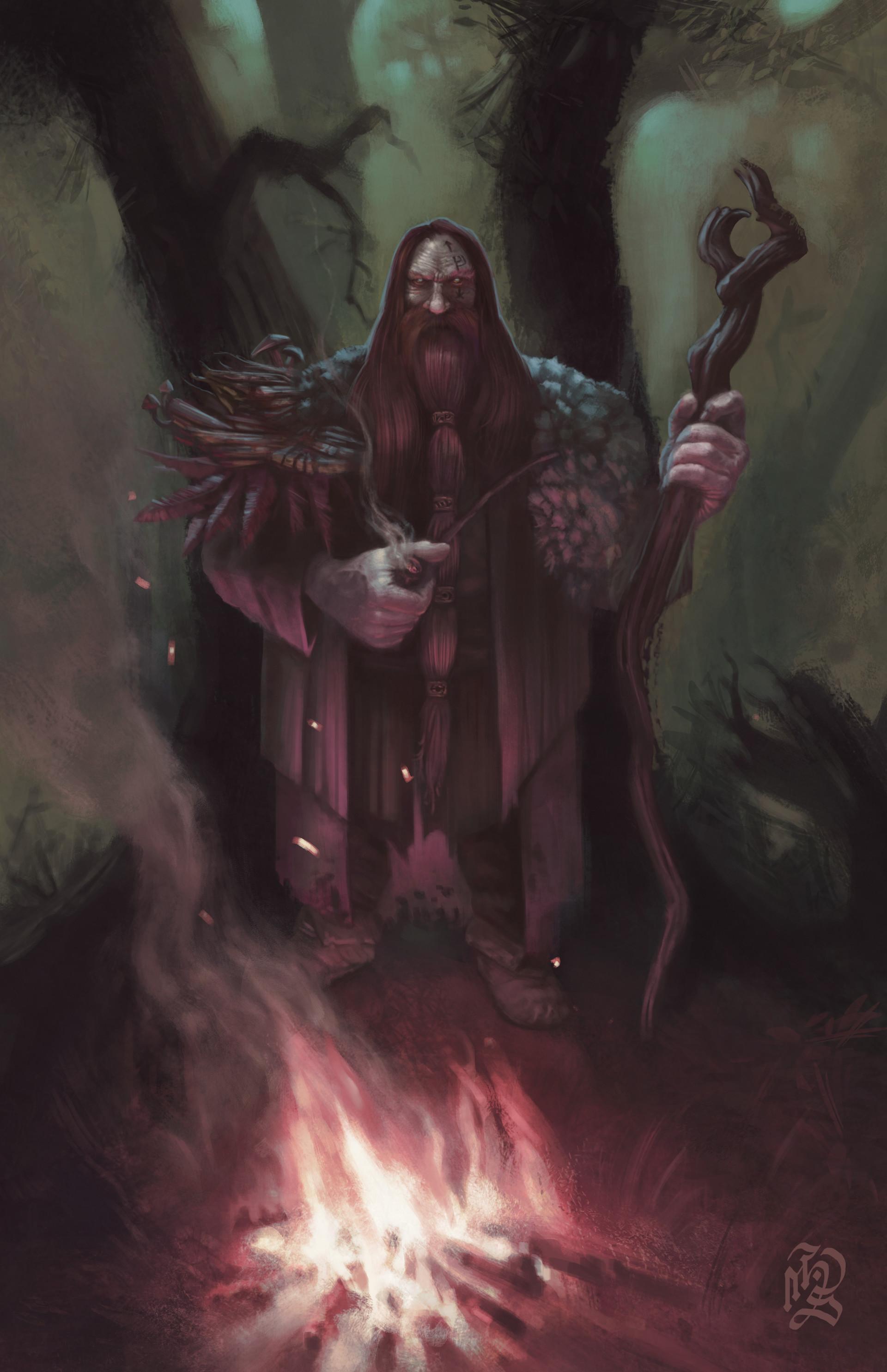 ArtStation - Dwarf Druid, Haron Seehagen