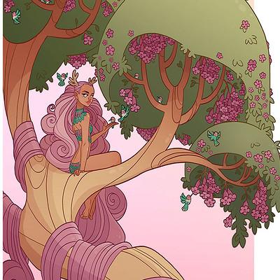 Jessica madorran character design spring tree lady 2017 artstation02